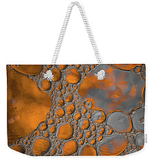 Molten Copper Puddles Abstract Weekender Tote Bag