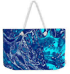 Molten Metal Splash Weekender Tote Bag by Samantha Thome
