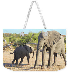 Weekender Tote Bag featuring the photograph Mom And Baby by Betty-Anne McDonald