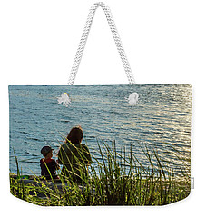 Mother And Son Weekender Tote Bag by Ed Clark