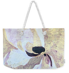 Weekender Tote Bag featuring the painting Momma Bear Checking On Her Cub by Donald J Ryker III