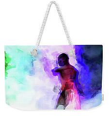 Moment In Blue - African Dancer Weekender Tote Bag