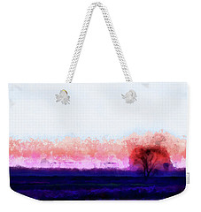 Moment In Blue Horizon Tree Weekender Tote Bag by Cedric Hampton