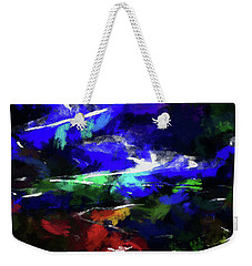 Moment In Blue Lazy River Weekender Tote Bag by Cedric Hampton
