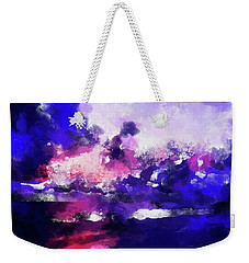 Moment In Blue Major Weekender Tote Bag by Cedric Hampton