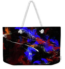 Moment In Blue Night Sky Weekender Tote Bag by Cedric Hampton