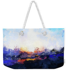 Moment In Blue Spaces Weekender Tote Bag by Cedric Hampton