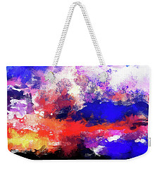 Moment In Blue Sunrise Weekender Tote Bag by Cedric Hampton
