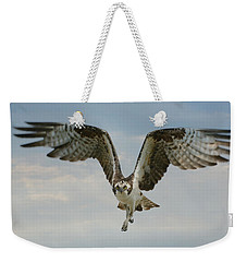 Weekender Tote Bag featuring the photograph Momentum by Fraida Gutovich