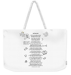 Weekender Tote Bag featuring the photograph Momisms by John Haldane