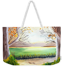 Momma Duck And Ducklings Weekender Tote Bag