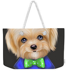 Weekender Tote Bag featuring the painting Mommas Sweet Little Boy by Catia Lee