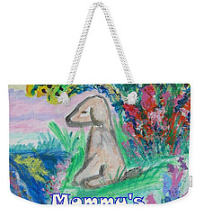 Mommy's Little Boy Weekender Tote Bag by Diane Pape