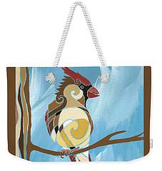 Moms Day Off Female Cardinal Painting Weekender Tote Bag