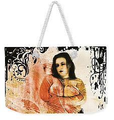 Weekender Tote Bag featuring the digital art Mona 2 by Mark Baranowski