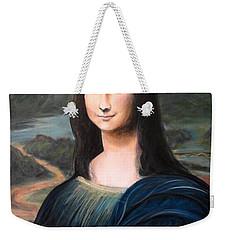 Mona Lisa With Ipad Weekender Tote Bag