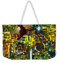 Weekender Tote Bag featuring the mixed media Mona by Tony Rubino