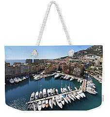 Weekender Tote Bag featuring the photograph Monaco Port De Fontvieille  by Yhun Suarez