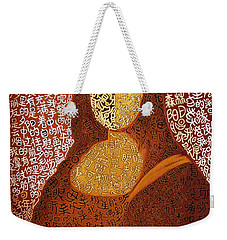 Weekender Tote Bag featuring the painting Monalisa by Fei A