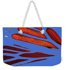 Monarch Abstract Blue Weekender Tote Bag