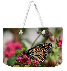 Monarch Butterfly On Fuchsia Weekender Tote Bag