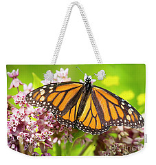 Weekender Tote Bag featuring the photograph Monarch Butterfly Closeup  by Ricky L Jones