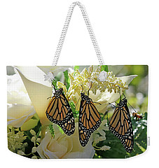 Monarch Butterfly Garden  Weekender Tote Bag by Luana K Perez