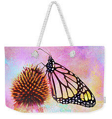 Monarch Butterfly On Coneflower Abstract Weekender Tote Bag