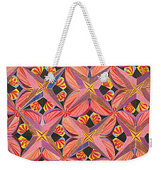 Weekender Tote Bag featuring the drawing Monarch by Kim Sy Ok