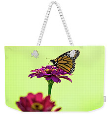 Monarch On A Zinnia Weekender Tote Bag