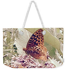 Monarch's On Milkweed Weekender Tote Bag