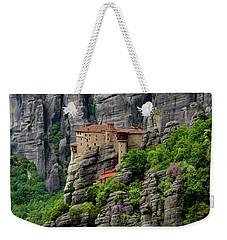 Monastery Of Saint Nicholas Of Anapafsas, Meteora, Greece Weekender Tote Bag