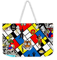 Mondrian Nightmare Weekender Tote Bag
