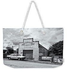 Weekender Tote Bag featuring the photograph Monegeetta Produce Store by Linda Lees