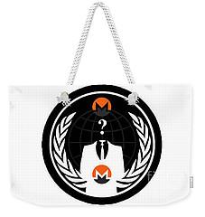 Monero Anonymous Weekender Tote Bag