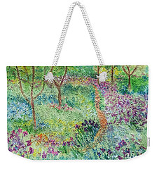 Monet Inspired Iris Garden Weekender Tote Bag