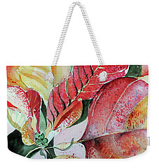 Monet Poinsettia Weekender Tote Bag by Mindy Newman