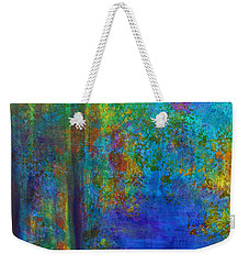 Weekender Tote Bag featuring the painting Monet Woods by Claire Bull