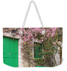 Monet's Bench Weekender Tote Bag