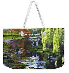 Monets Garden Painting Palette Knife Weekender Tote Bag