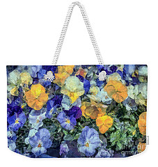 Monet's Pansies Weekender Tote Bag