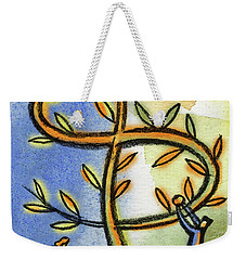 Weekender Tote Bag featuring the painting Money Tree by Leon Zernitsky