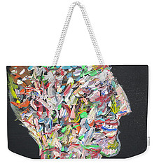 Weekender Tote Bag featuring the painting Money,sex And Power by Fabrizio Cassetta