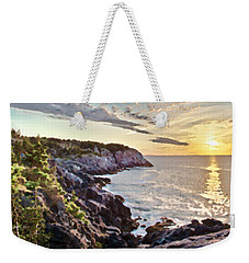 Weekender Tote Bag featuring the photograph Monhegan East Shore by Tom Cameron