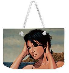 Monica Bellucci 2 Weekender Tote Bag by Paul Meijering