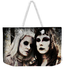 Weekender Tote Bag featuring the digital art Monique And Ryli 1 by Mark Baranowski