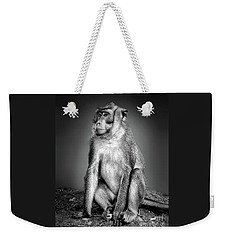 Monkey Weekender Tote Bag by Charuhas Images
