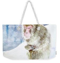 Monkey In Meditation Weekender Tote Bag