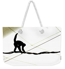 Monkey On A Wire Weekender Tote Bag