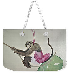 Monkey Swinging In The Trees Weekender Tote Bag